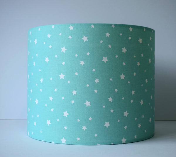 mint star lampshade neutral nursery decor