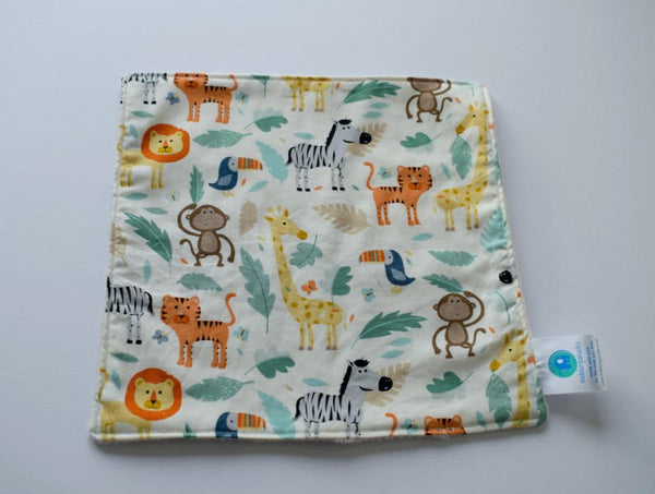 jungle animal baby comforter lovey