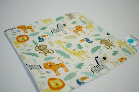 Safari Animal Lovey Blankie, Neutral Baby Security Blanket