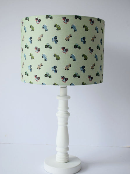 Green Trucks Lampshade, Transport Themed Nursery