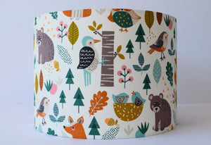 woodland animal nursery lampshade