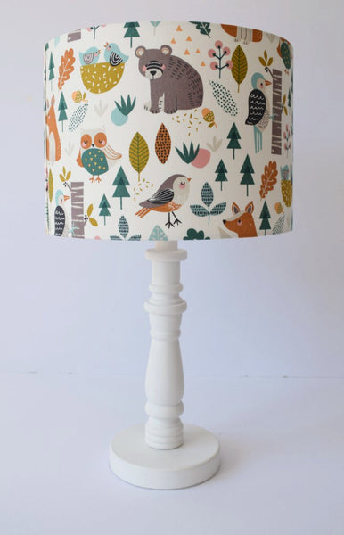 woodland themed nursery table lampshade