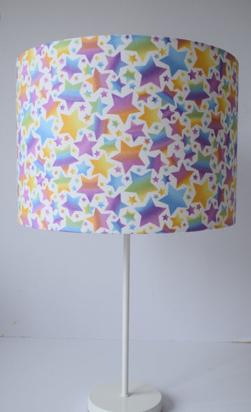 girl bedroom table lamp rainbow star