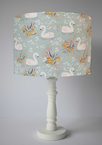 swan bedroom decor table lampshade