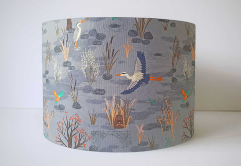 Countryside Scene Lampshade, Rustic Home Decor Lights