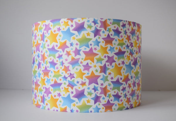 Pastel Rainbow Star Lampshade, Girl Nursery Decor Lights