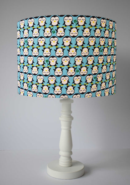 Blue Penguin Lampshade, Cute Penguin Home Decor