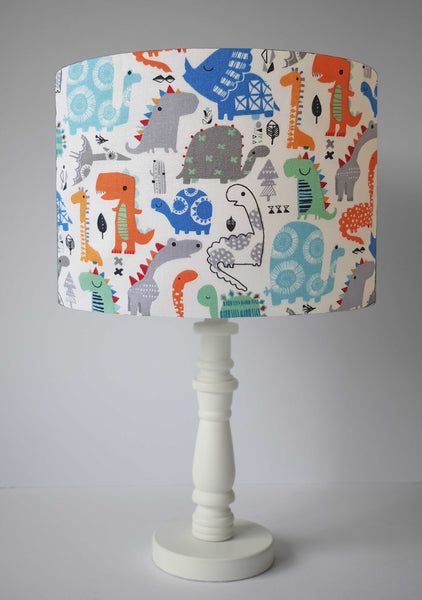 blue dinosaur themed nursery table lamp shade