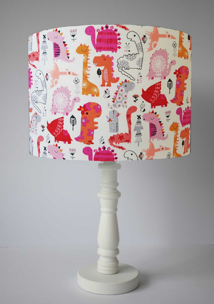 Pink Dinosaur Lampshade, Girl Dinosaur Bedroom Decor