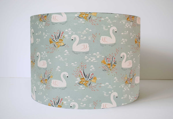duck egg blue swan lampshade girl decor