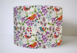 Natural Hedgerow Lampshade, Birds And Floral Light Shade