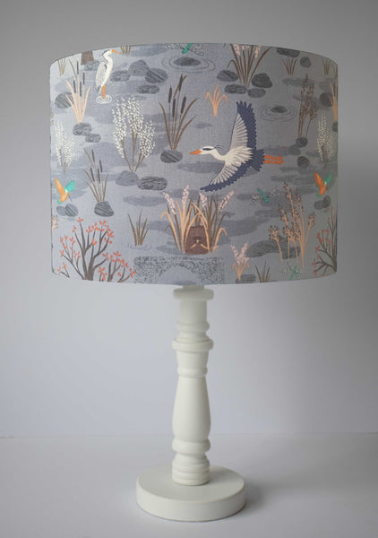 heron riverside scenic table lamp shade