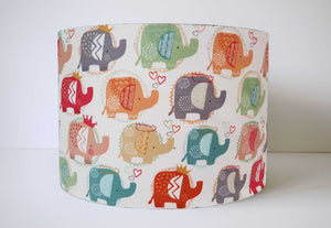 Cute Elephant Lampshade, Elephant Nursery Decor