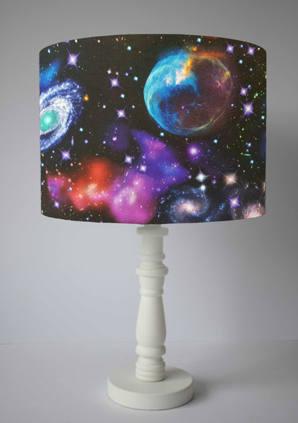 colourful galaxy and planet lamp shade