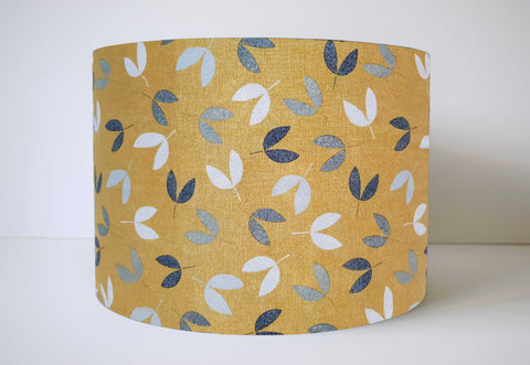 mustard yellow and grey nature lampshade