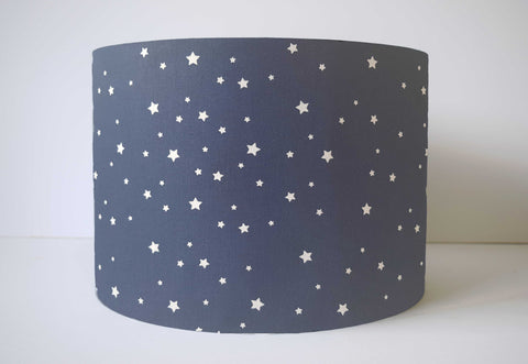 Navy Star Lampshade, Star Nursery Decor