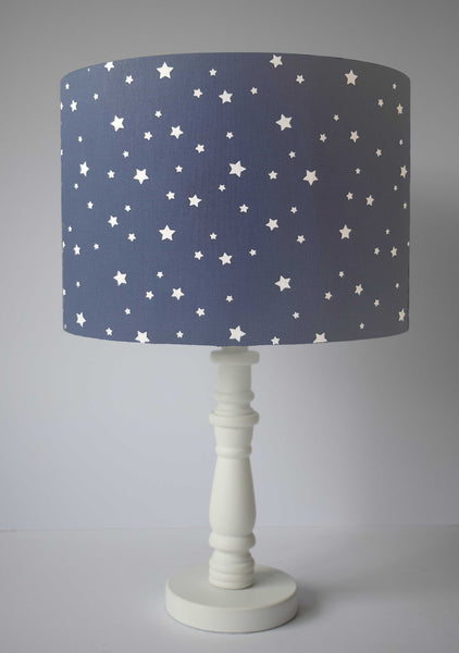 dark blue star table lamp shade nursery