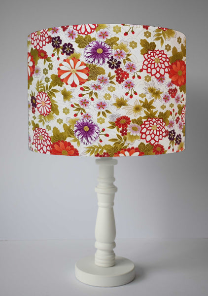 Japanese floral table lamp shade