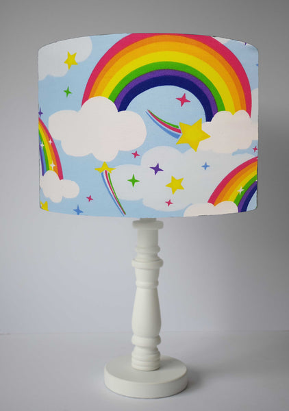 Shooting star and rainbow table lamp shade
