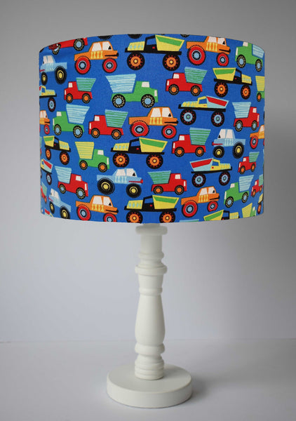 truck and vehicles table lamp shade nursery