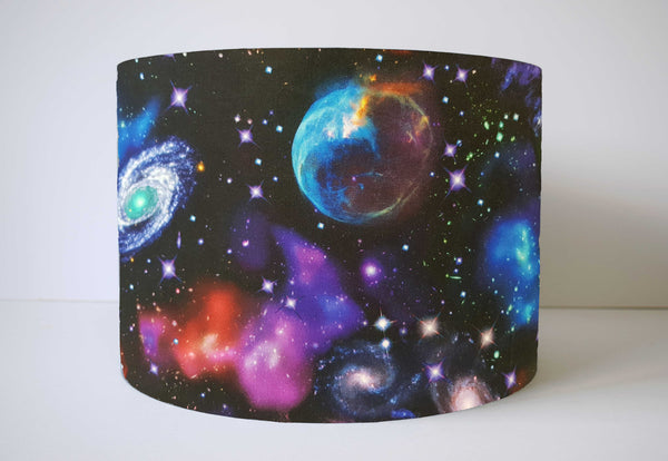 space nebula galaxy lampshade