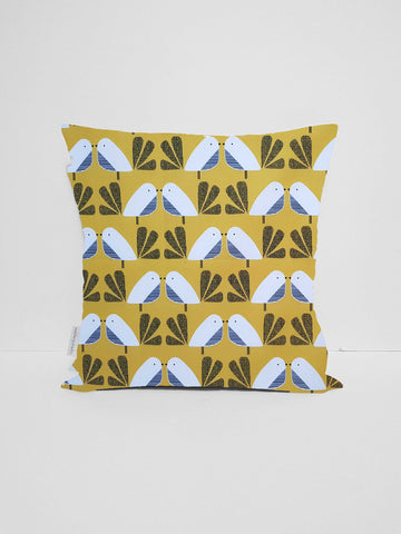 Yellow Bird Cushion Cover, Scandi Home Decor