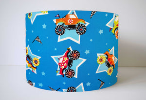 blue monster truck lampshade for kids