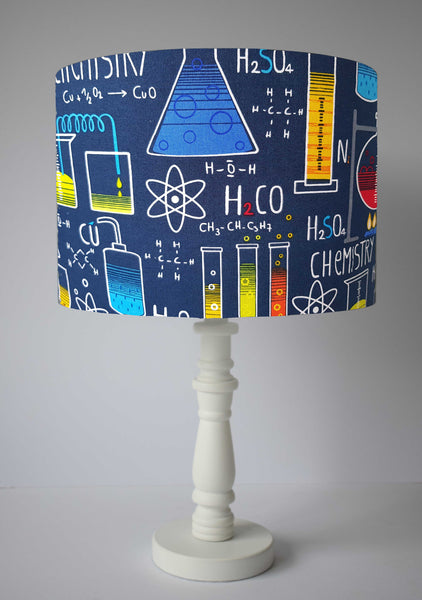 geeky science themed table lamp shade