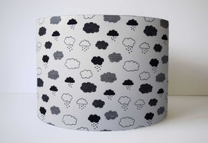 Monochrome Cloud Lampshade, Black and White Nursery Decor