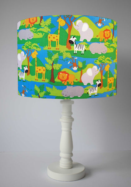 jungle animal nursery decor table lamp shade