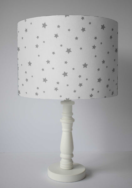 white and grey star table lamp shade for kids