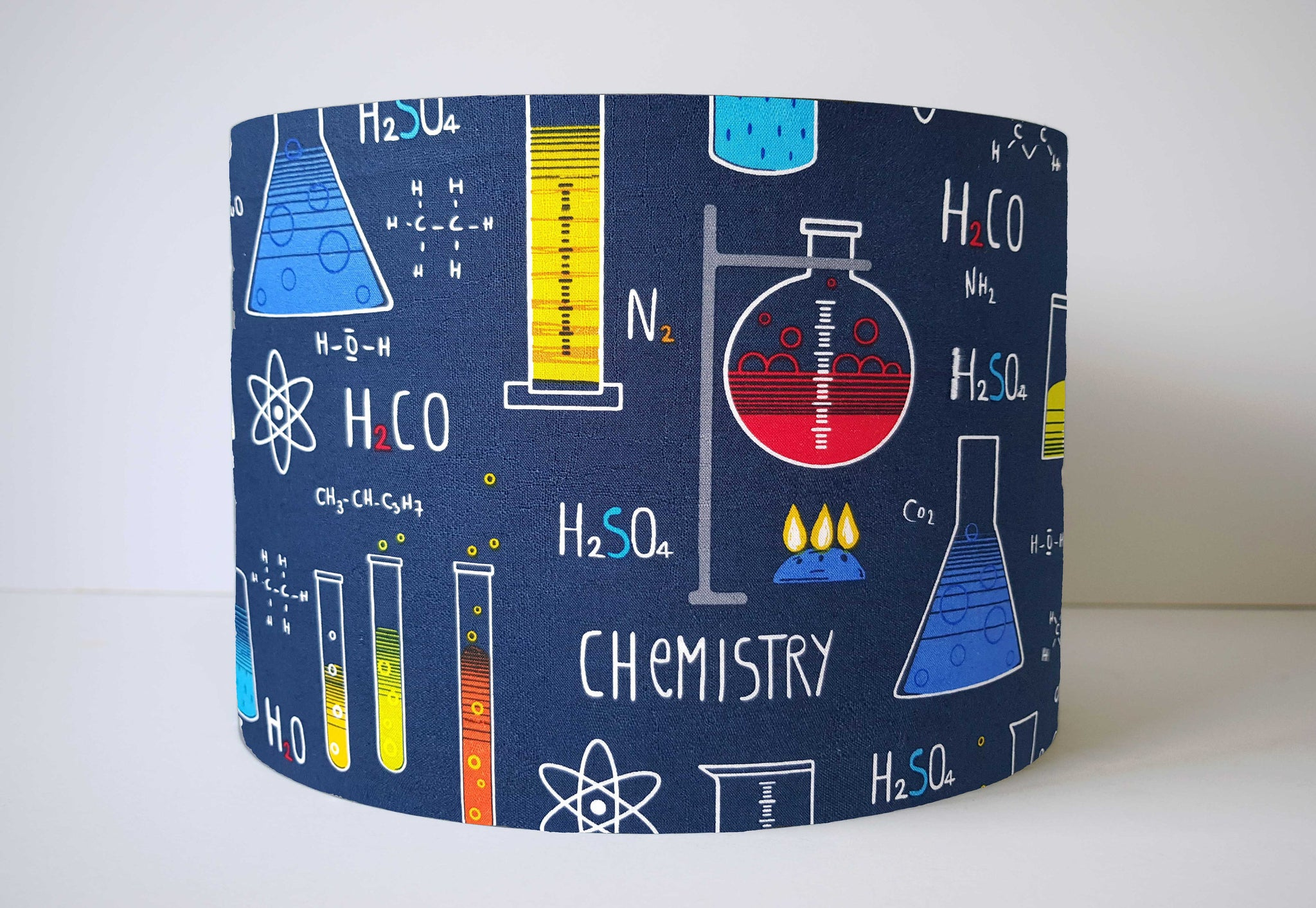 blue chemistry themed lampshade