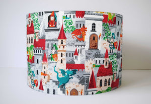 Dragon And Knight Lampshade, Medival Themed Nursery Bedroom