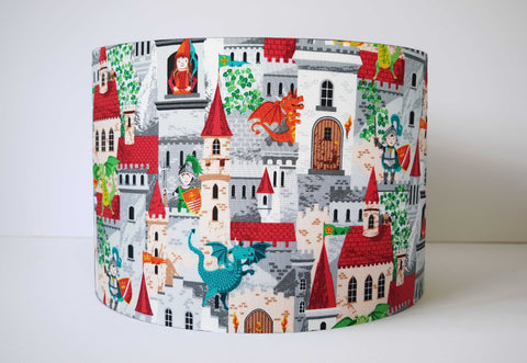 dragon and castle scene lampshade kids