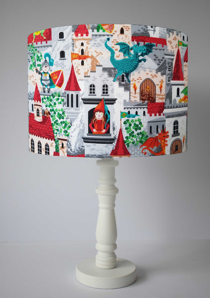 fantasy medieval dragon themed table lamp kids