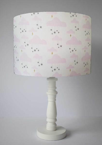 pink cloud girl room table lamp shade