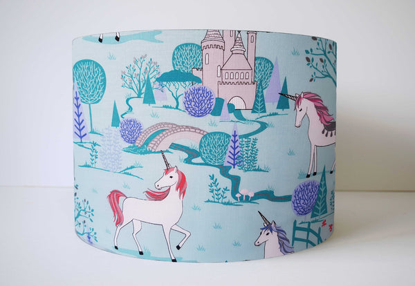Unicorn Lampshade Blue, Unicorn Nursery Decor