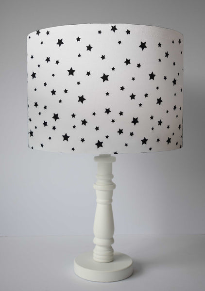 monochrome star lampshade for kids