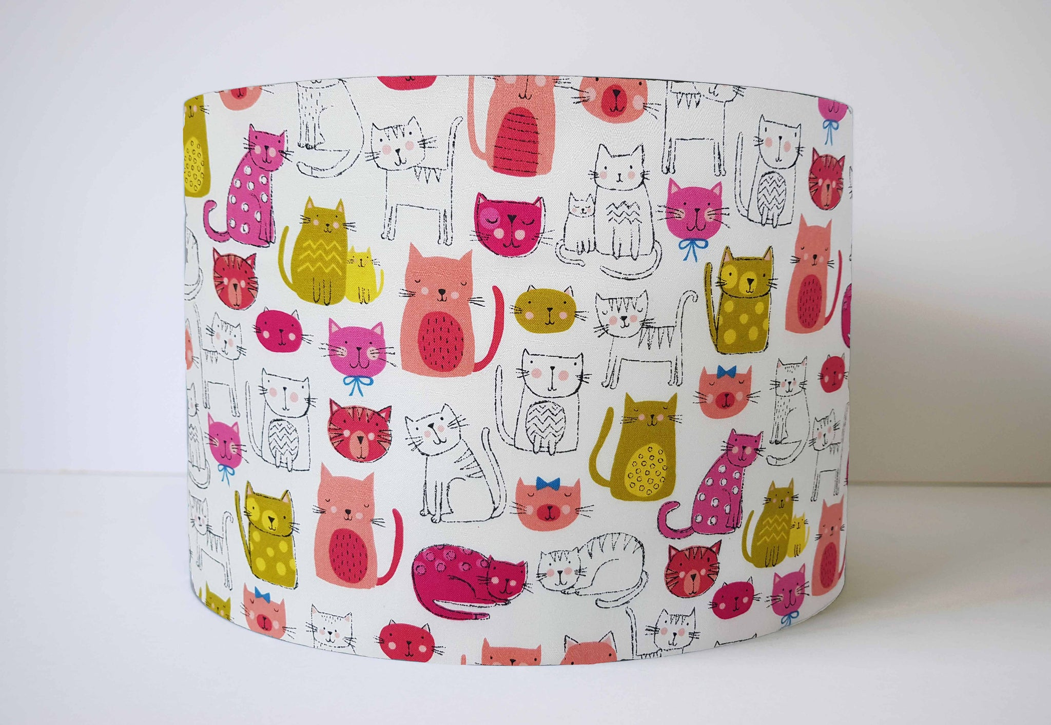 Pink Cat Lampshade, Cat Home Decor