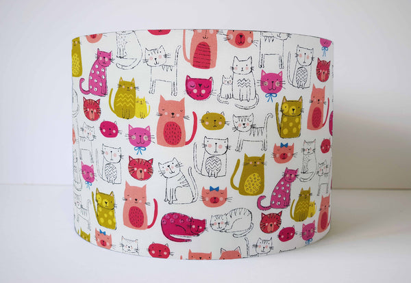 pink cat girl lampshade
