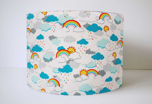 rainbow, sun and cloud lampshade