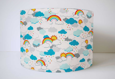 Rainbow And Cloud Lampshade, Rainbow Nursery Decor