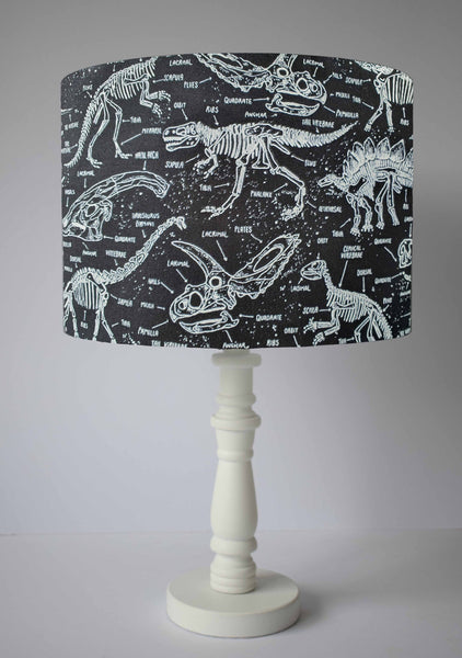 Glow In The Dark Dinosaur Skeleton Lampshade, Dinosaur Themed Bedroom