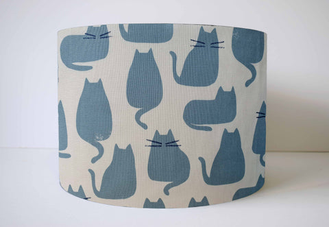 Grey Cat Silhouette Lampshade, Cat Lover Home Gift