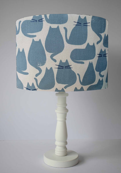 grey cat table lamp shade for cat lovers