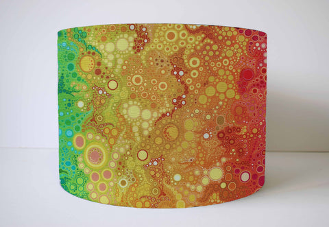 Rainbow bubble lampshade