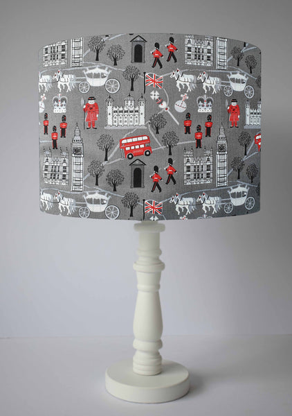 Grey London Lampshade, London Scenic Home Decor