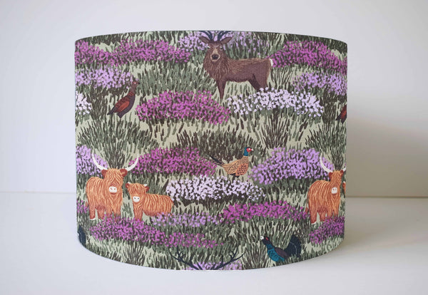 Highland Cow Lampshade, Scottish Highlands Home Decor