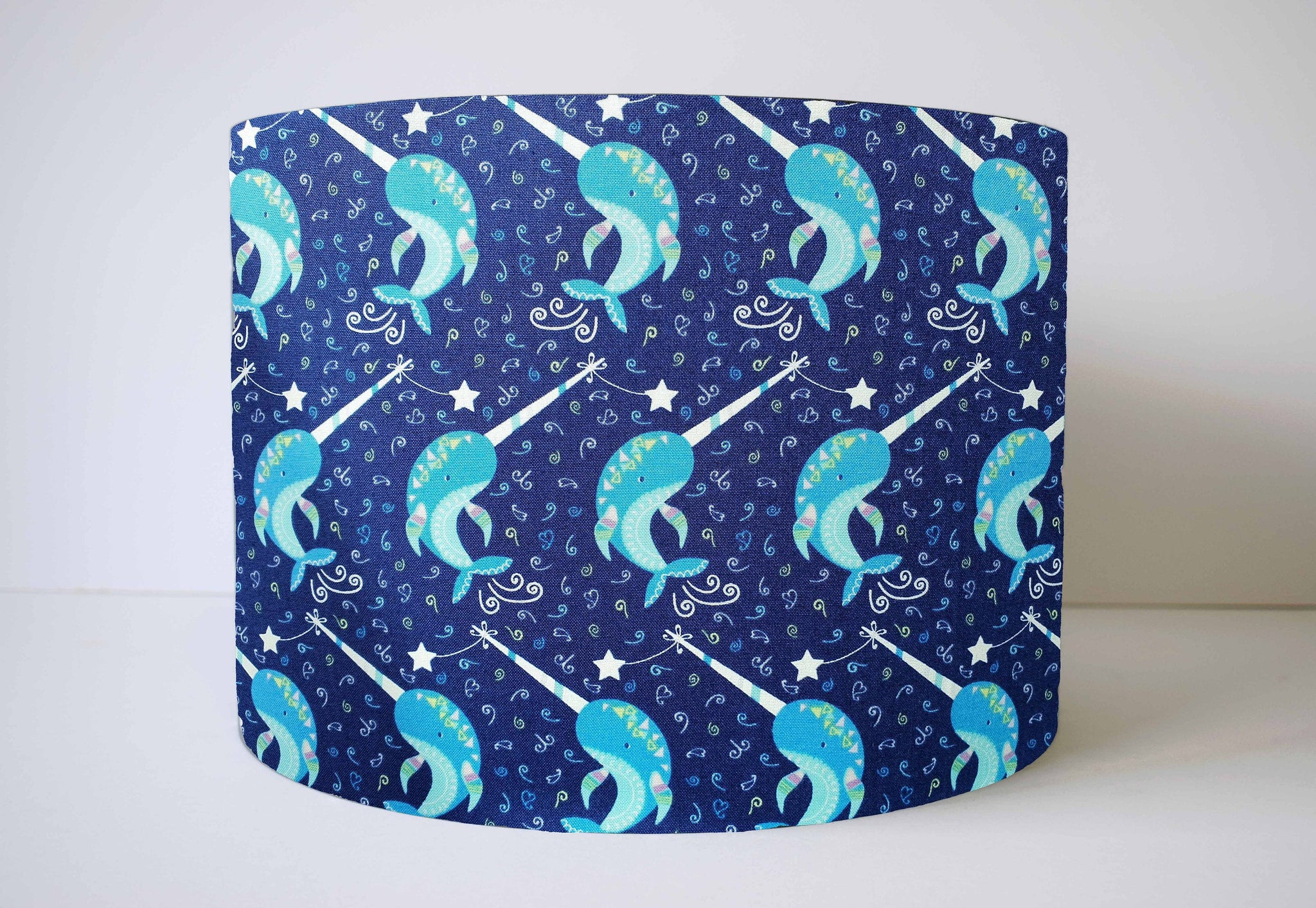 Glow In The Dark Narwhal Light Shade, Under The Sea Themed Nursery