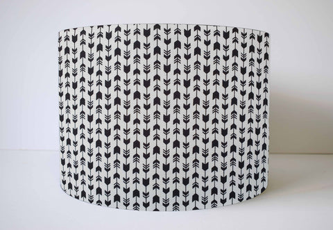 monochrome black and white arrow lampshade
